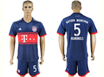 FC Bayern Munich 2017/18 Away Navy Soccer Jersey with #5 Hummels Printing