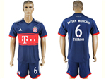 FC Bayern Munich 2017/18 Away Navy Soccer Jersey with #6 Thiago Printing
