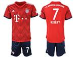 FC Bayern Munich 2018/19 Home Red Soccer Jersey with #7 Ribéry Printing