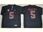 Stanford Cardinal #5 Christian McCaffrey Black College Football Jersey