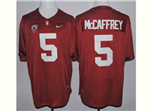Stanford Cardinal #5 Christian McCaffrey Red College Football Jersey