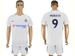 Chelsea F.C. 2017/18 Away White Jersey with #9 Morata Printing