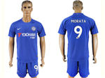 Chelsea F.C. 2017/18 Home Blue Jersey with #9 Morata Printing