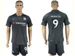 Chelsea F.C. 2017/18 Third Black Jersey with #9 Morata Printing