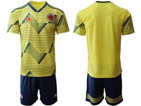 Colombia 2019/20 Home Youth Yellow Soccer Jersey