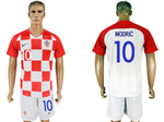 Croatia 2018 World Cup Home Red/White Soccer with #10 Modrić Printing