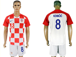 Croatia 2018 World Cup Home Red/White Soccer with #8 Kovačić Printing