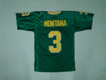Notre Dame Fighting Irish #3 Joe Montana Youth Green College Football Jersey