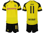 Borussia Dortmund 2018/19 Home Yellow Soccer Jersey with #11 Reus Printing