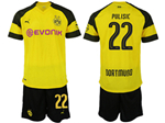 Borussia Dortmund 2018/19 Home Yellow Soccer Jersey with #22 Pulisic Printing