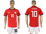 Egypt 2018 World Cup Home Red Soccer Jerseywith #10 M.Salah Printing