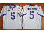 TCU Horned Frogs #5 LaDainian Tomlinson White College Football Jersey