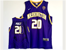 NCAA Washington Huskies #20 Markelle Fultz Purple College Basketball Jersey