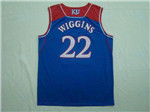 NCAA Kansas Jayhawks #22 Andrew Wiggins Blue College Basketball Jersey