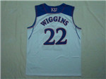 NCAA Kansas Jayhawks #22 Andrew Wiggins White College Basketball Jersey
