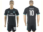 Real Madrid C.F. 2017/18 Away Black Soccer Jersey with #10 Modrić Printing