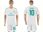 Real Madrid C.F. 2017/18 Home White Soccer Jersey with #10 Modrić Printing