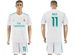 Real Madrid C.F. 2017/18 Home White Soccer Jersey with #11 Bale Printing