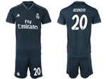 Real Madrid C.F. 2018/19 Away Black Soccer Jersey with #20 Asensio Printing