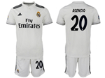 Real Madrid C.F. 2018/19 Home White Soccer Jersey with #20 Asensio Printing