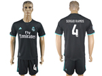 Real Madrid C.F. 2017/18 Away Black Soccer Jersey with #4 Sergio Ramos Printing