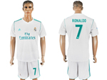 Real Madrid C.F. 2017/18 Home White Soccer Jersey with #7 Ronaldo Printing