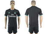 Real Madrid C.F. 2017/18 Away Black Soccer Jersey