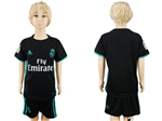 Real Madrid C.F. 2017/18 Away Youth Black Soccer Jersey