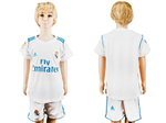 Real Madrid C.F. 2017/18 Home Youth White Soccer Jersey