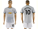 Manchester United F.C. 2017/18 3rd Gray Soccer Jersey with #10 Ibrahimović Printing