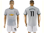 Manchester United F.C. 2017/18 3rd Gray Soccer Jersey with #11 Martial Printing
