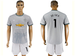 Manchester United F.C. 2017/18 3rd Gray Soccer Jersey with #1 de Gea Printing