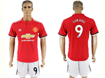 Manchester United F.C. 2017/18 Home Red Soccer Jersey with #9 Lukaku Printing