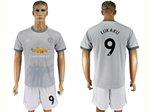 Manchester United F.C. 2017/18 3rd Gray Soccer Jersey with #9 Lukaku Printing