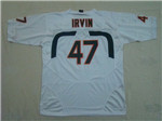 Miami Hurricanes #47 Michael Irvin White College Football Jersey