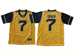 West Virginia Mountaineers #7 Will Grier Gold College Football Jersey