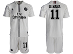 Paris Saint-Germain F.C. 2018/19 Champions League Away White Soccer Jersey with #11 Di María Printing
