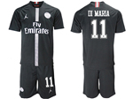 Paris Saint-Germain F.C. 2018/19 Champions League Home Black Soccer Jersey with #11 Di María Printing