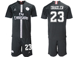 Paris Saint-Germain F.C. 2018/19 Champions League Home Black Soccer Jersey with #23 Draxler Printing