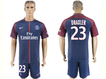 Paris Saint-Germain F.C. 2017/18 Home Navy Soccer Jersey with #23 Draxler Printing