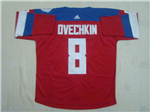 Team Russia 2016 World Cup #8 Alexander Ovechkin Red Jersey