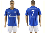 FC Schalke 04 2017/18 Home Blue Soccer Jersey with #7 Meyer Printing