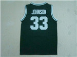 NCAA Michigan State Spartans #33 Magic Johnson Green Jersey