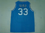 NCAA Indiana State Sycamores #33 Larry Bird Light Blue Jersey