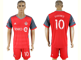 Toronto FC 2017/18 Home Red Jersey with #10 Giovinco Printing