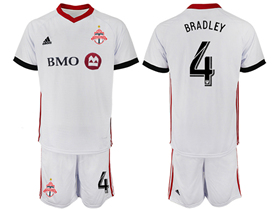 Toronto FC 2018/19 Away White Jersey with #4 Bradley Printing