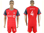 Toronto FC 2017/18 Home Red Jersey with #4 Bradley Printing