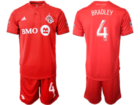 Toronto FC 2019/20 Home Red Soccer Jersey with #4 Bradley Printing
