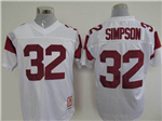 USC Trojans #32 O.J.Simpson White College Football Jersey