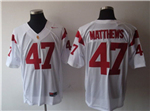 USC Trojans #47 Clay Matthews White College Football Jersey